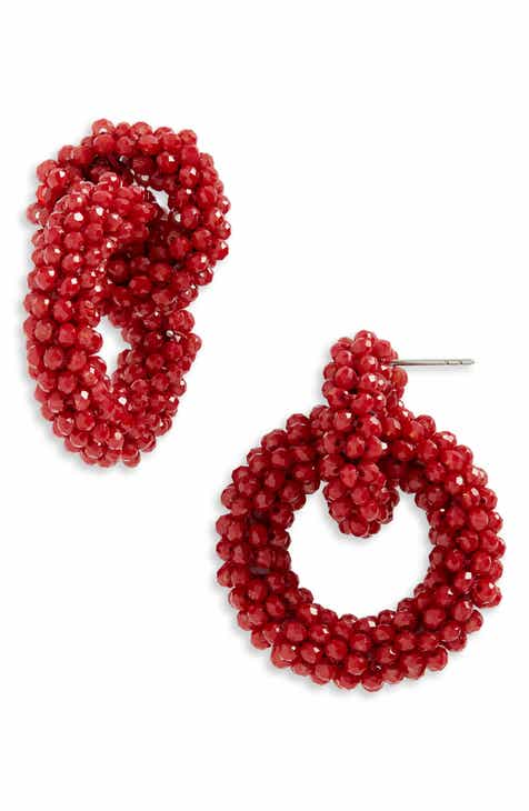 f3c776da5 BaubleBar Farida Beaded Hoop Earrings