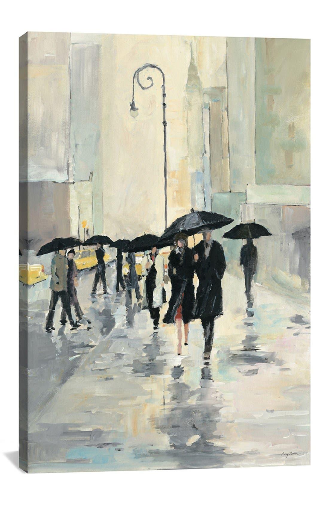 Main Image - iCanvas 'City in the Rain - Avery Tillmon' Giclée Print Canvas Art