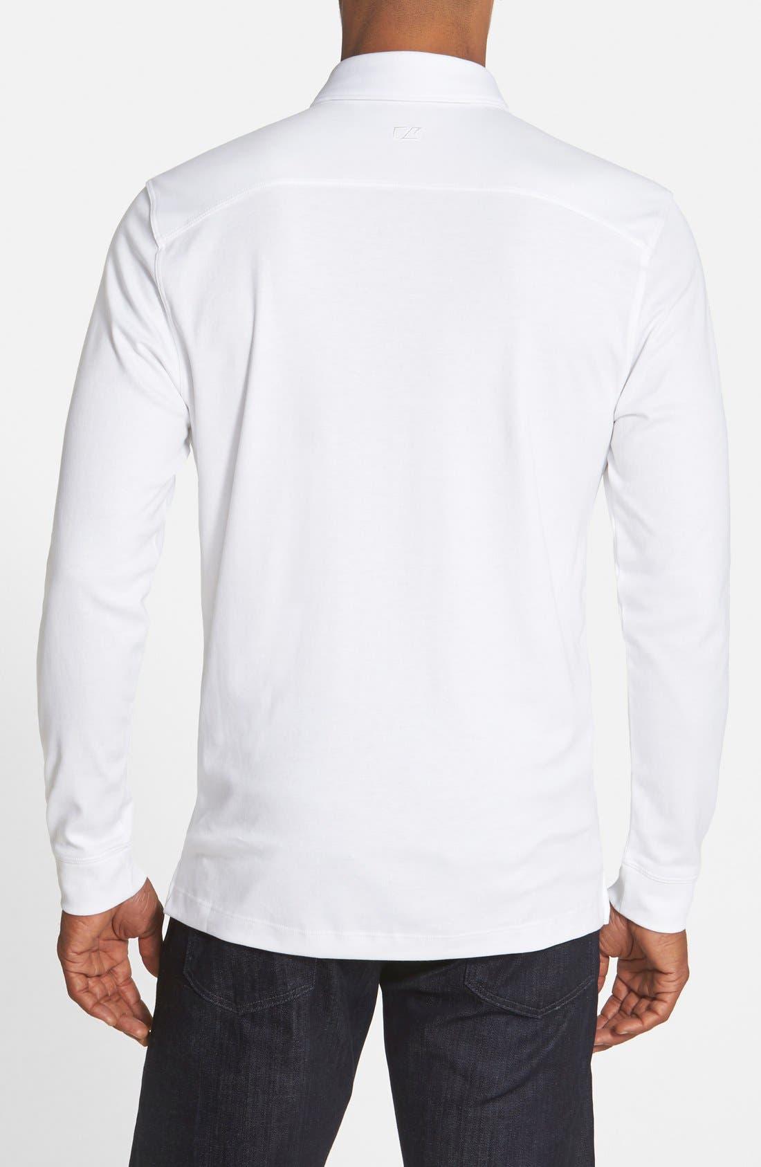 'Belfair' Pima Cotton Polo,                             Alternate thumbnail 2, color,                             White