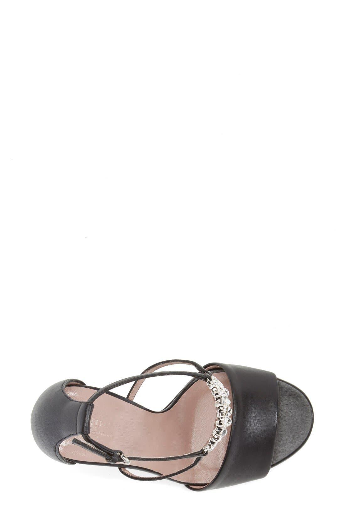 Alternate Image 3  - Gucci 'GG' Logo Ankle Strap Sandal (Women)