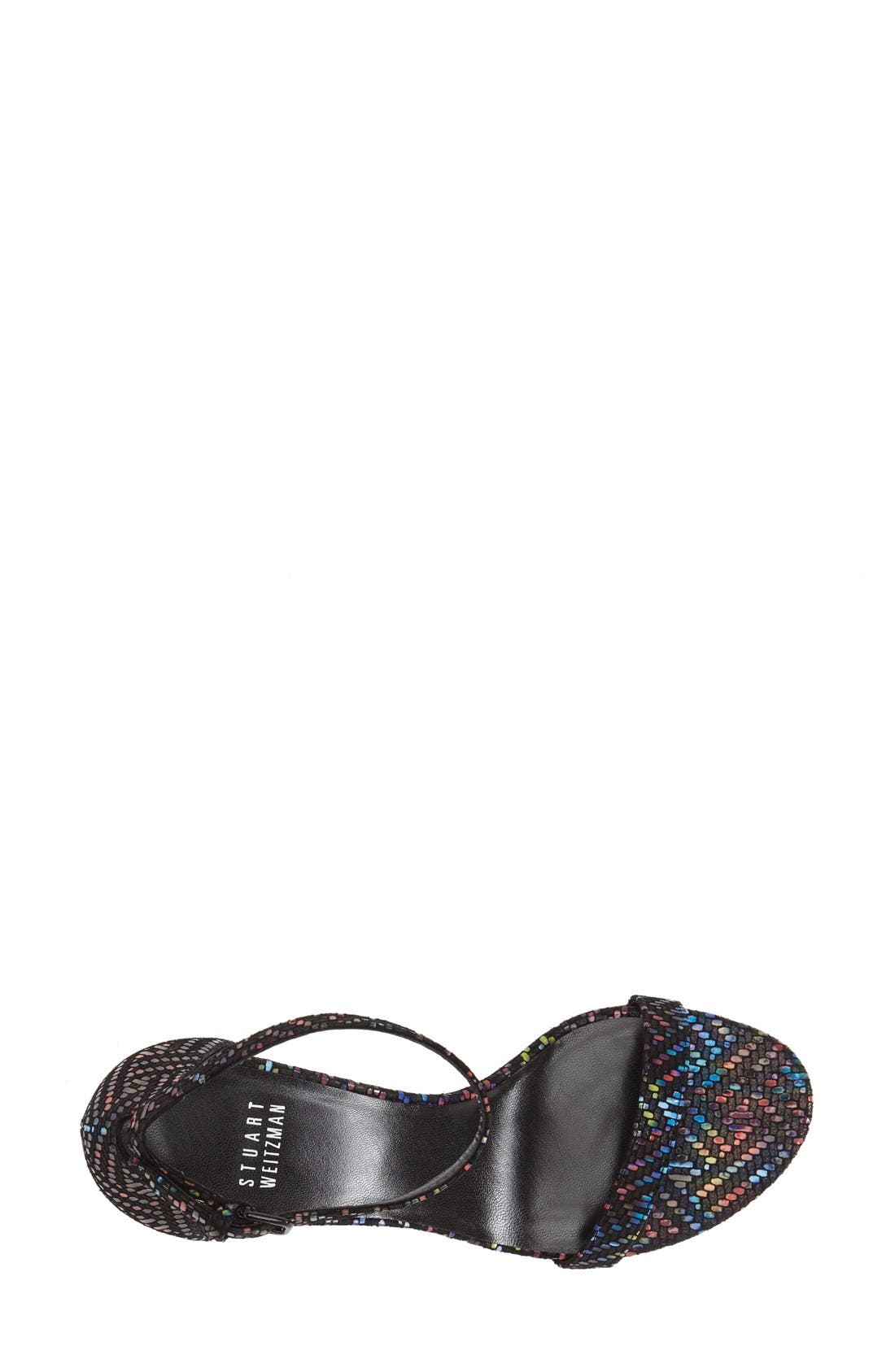 'Nunaked' Leather Ankle Strap Sandal,                             Alternate thumbnail 3, color,                             Multi Technicolor Nappa