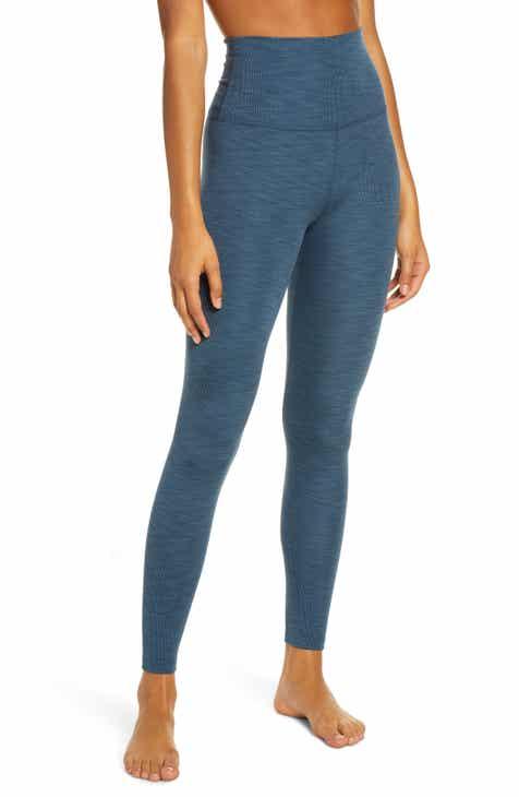 Beyond Yoga Heather High Waist Rib Leggings