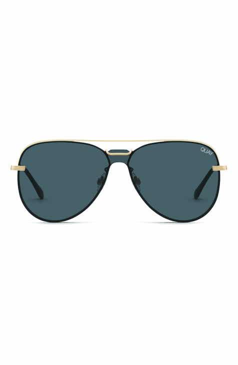 Quay Australia Notorious 56mm Aviator Sunglasses