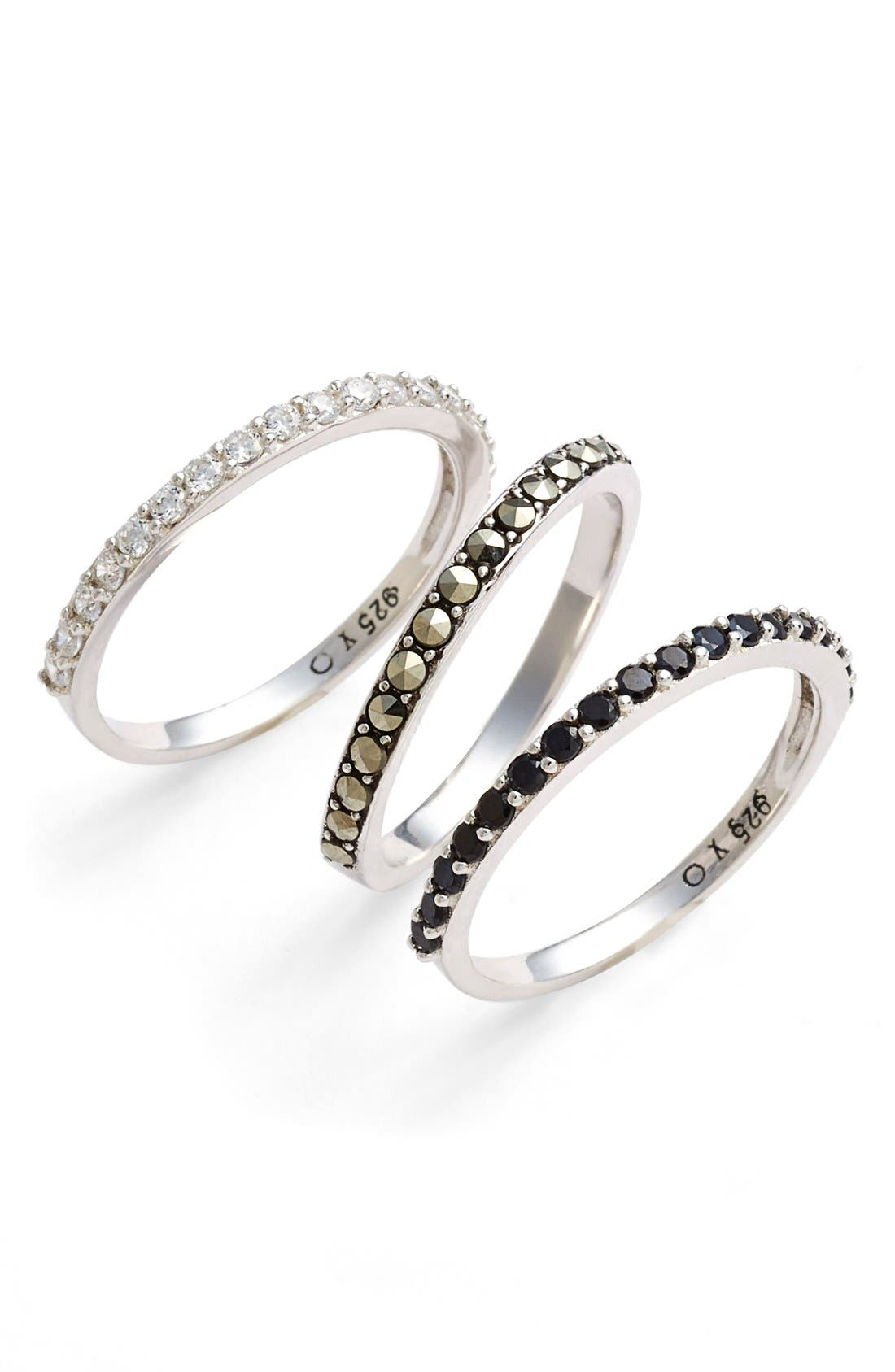 Main Image - Judith Jack 'Rings & Things' Stackable Rings (Set of 3)