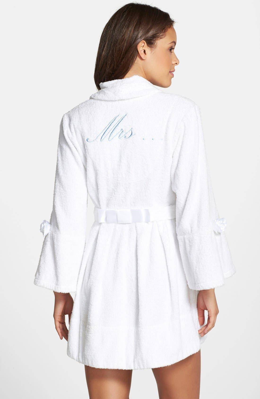 Terry Honeymoon Robe,                         Main,                         color, White