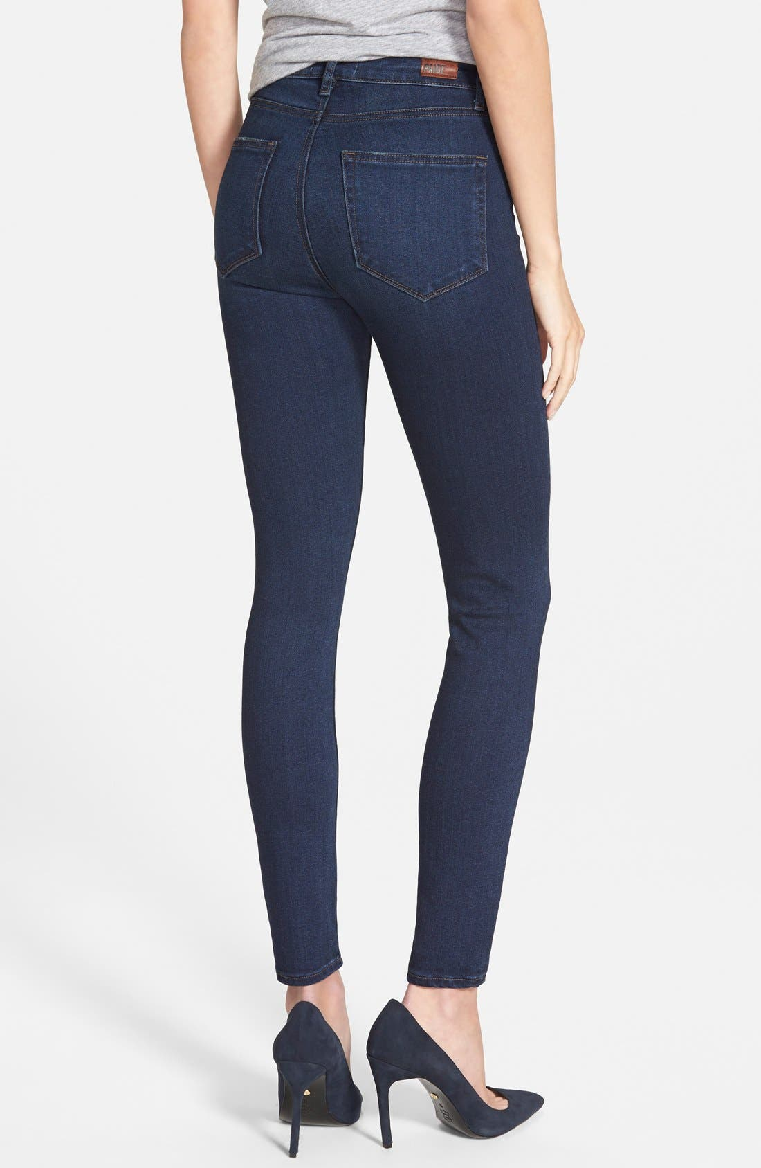 Alternate Image 3  - Paige Denim 'Hoxton' High Rise Ultra Skinny Jeans (Takara) (Nordstrom Exclusive)