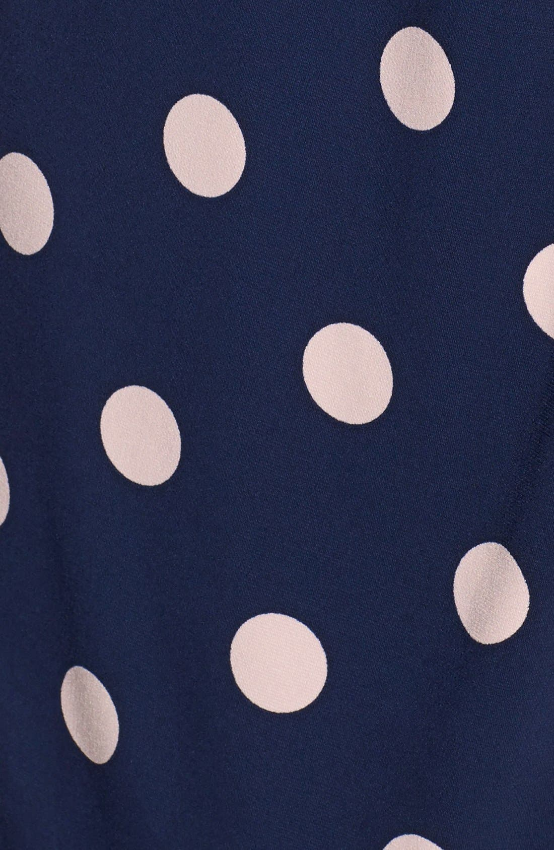 Alternate Image 4  - Eliza J Polka Dot Jersey Faux Wrap Dress (Regular & Petite)