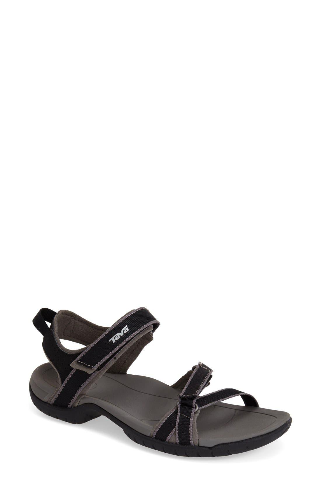 'Verra' Sandal,                             Main thumbnail 1, color,                             Black/ Grey