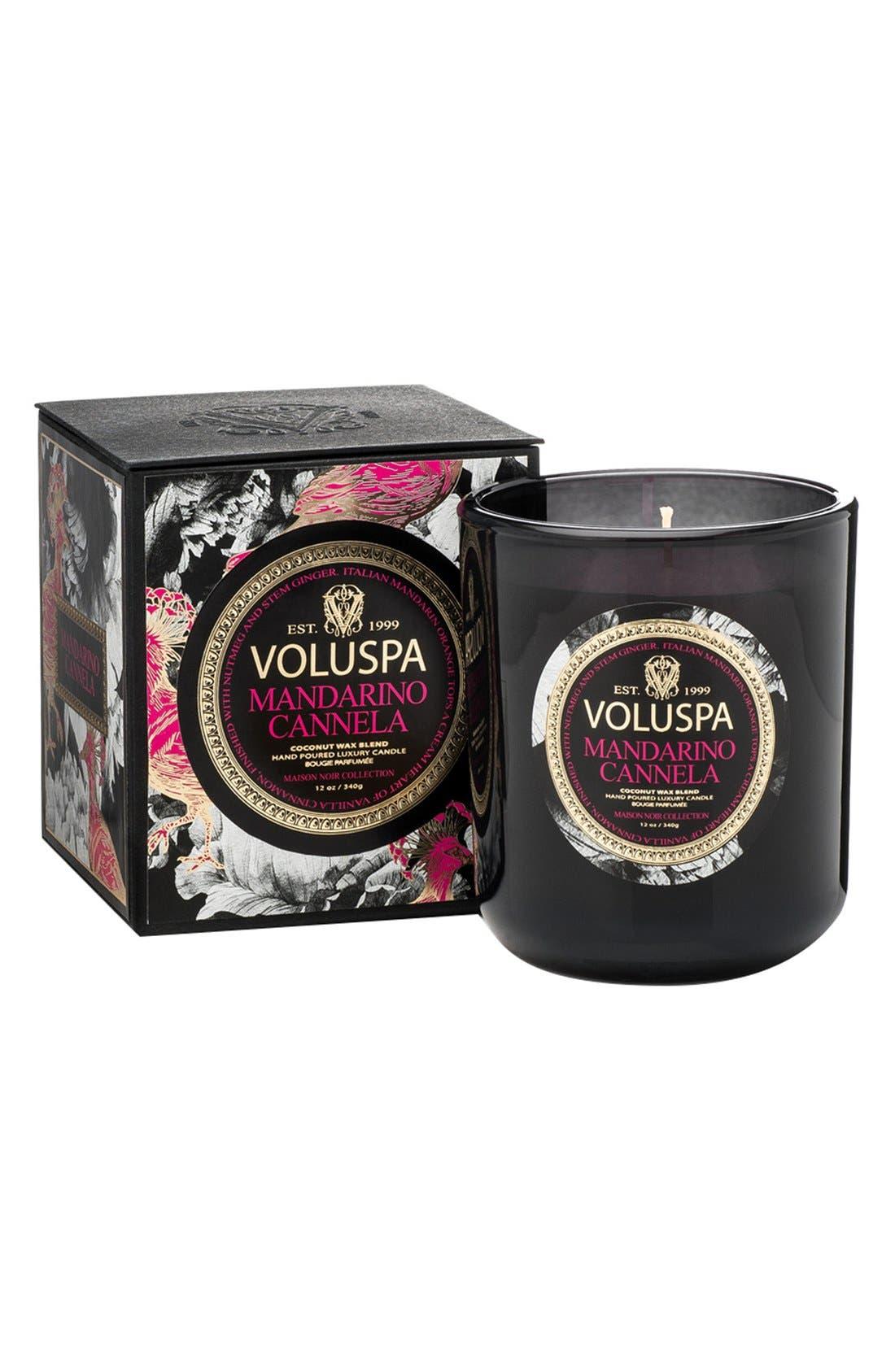 Maison Noir Classic Boxed Candle,                         Main,                         color, Mandarino Cannela