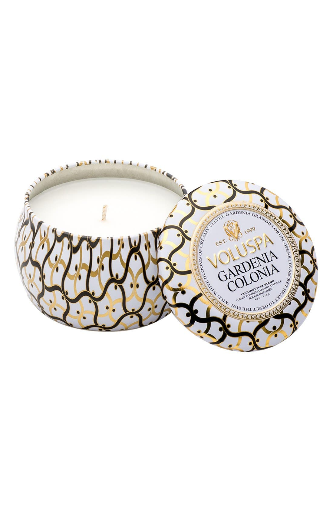 Alternate Image 1 Selected - Voluspa Maison Blanc Petite Decorative Tin Candle