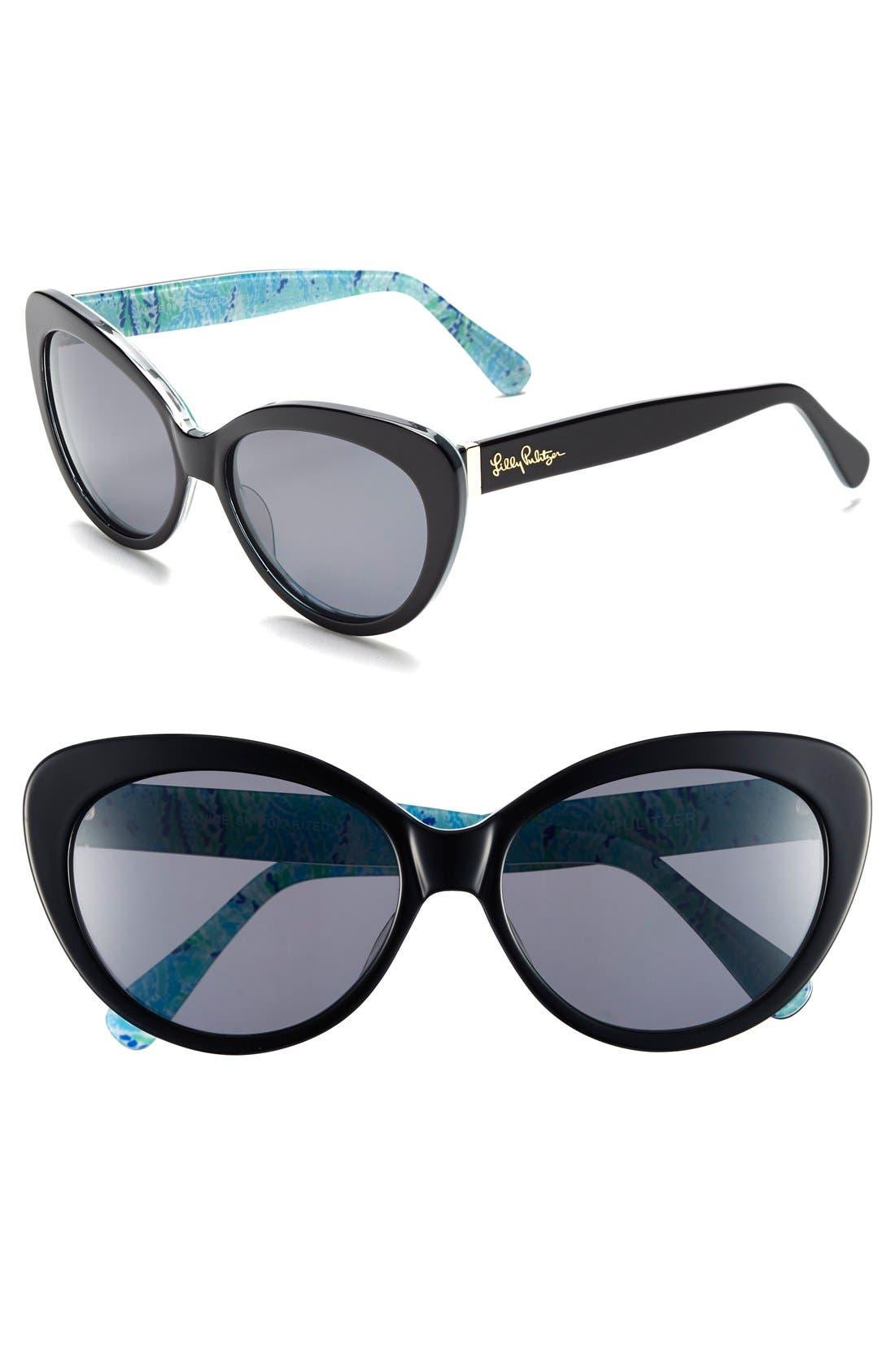 Main Image - Lilly Pulitzer® 'Janice' 58mm Polarized Sunglasses