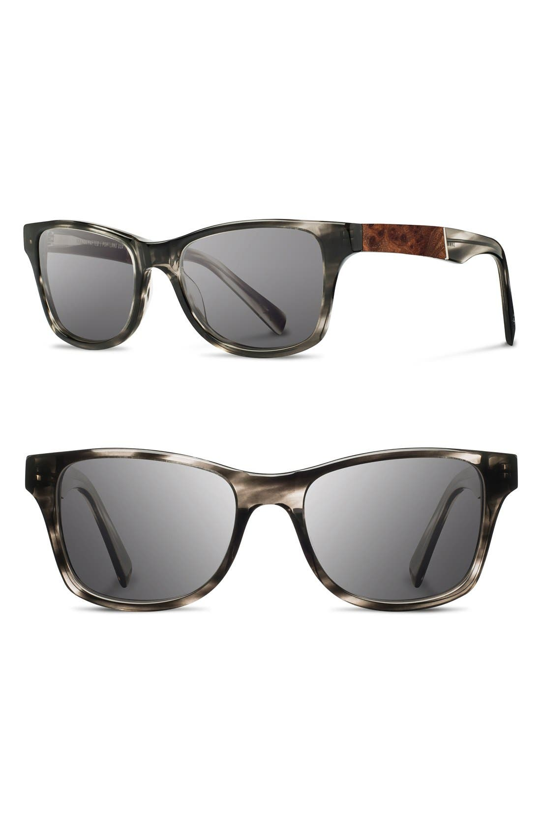 'Canby' 53mm Polarized Sunglasses,                             Main thumbnail 1, color,                             Pearl Grey/ Elm Burl/ Grey