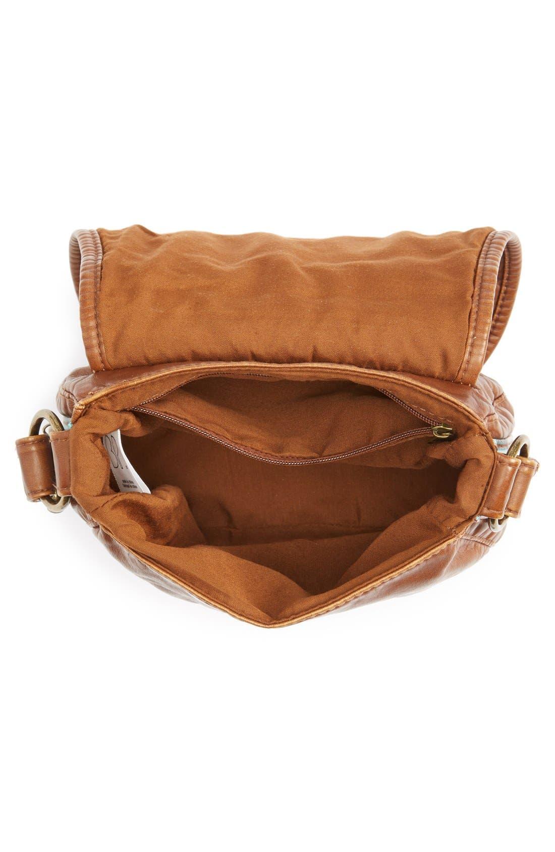 Alternate Image 3  - BP. Woven Border Faux Leather Crossbody Bag