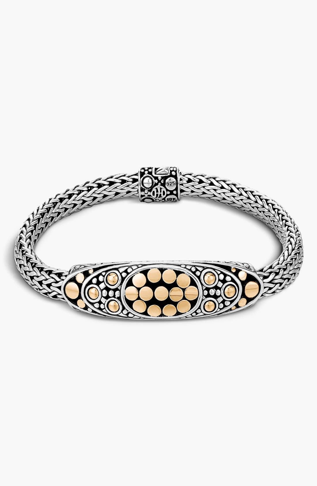 'Dot' Oval Station Bracelet,                             Main thumbnail 1, color,                             Silver