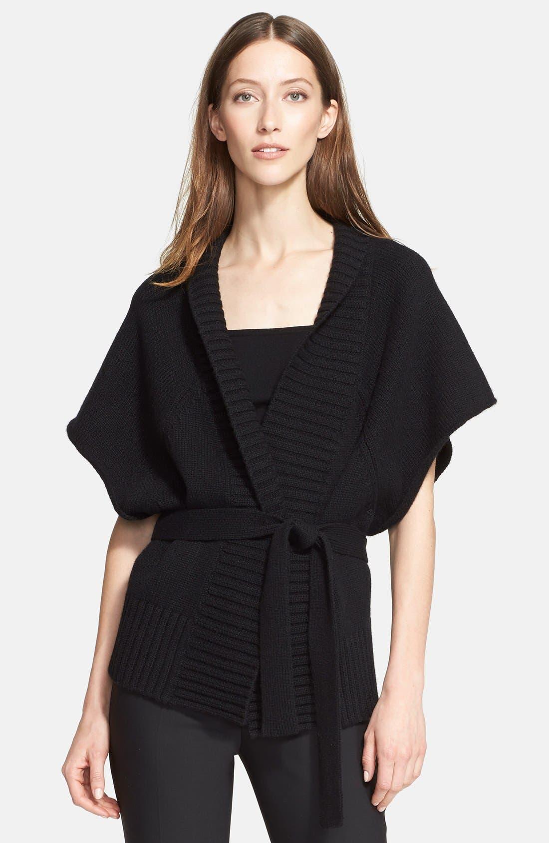 Michael Kors Rib Trim Cashmere Kimono Cardigan   Nordstrom