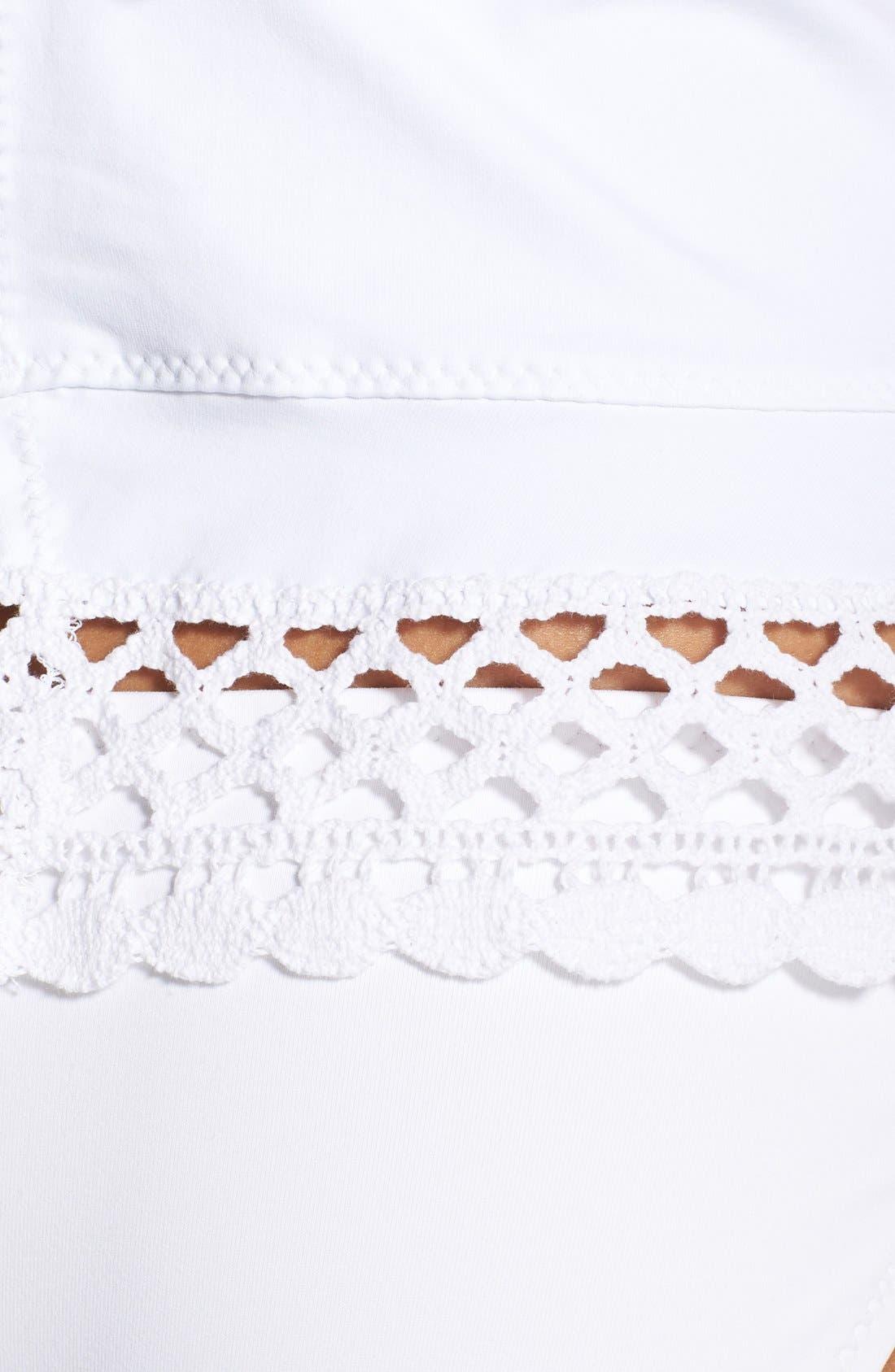 Alternate Image 3  - Becca 'It Girl' Crochet Tankini Top