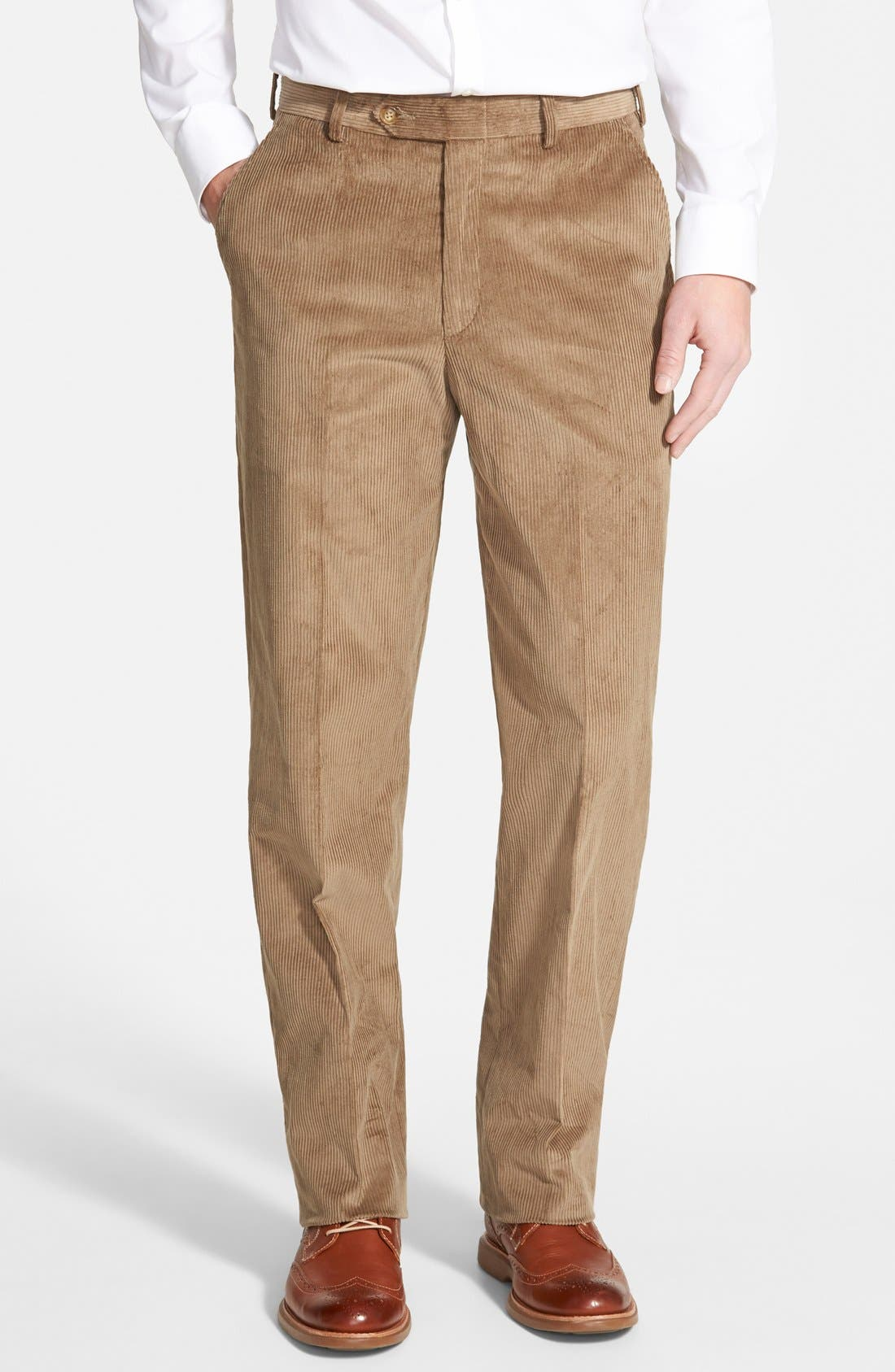 Berle Flat Front Corduroy Trousers
