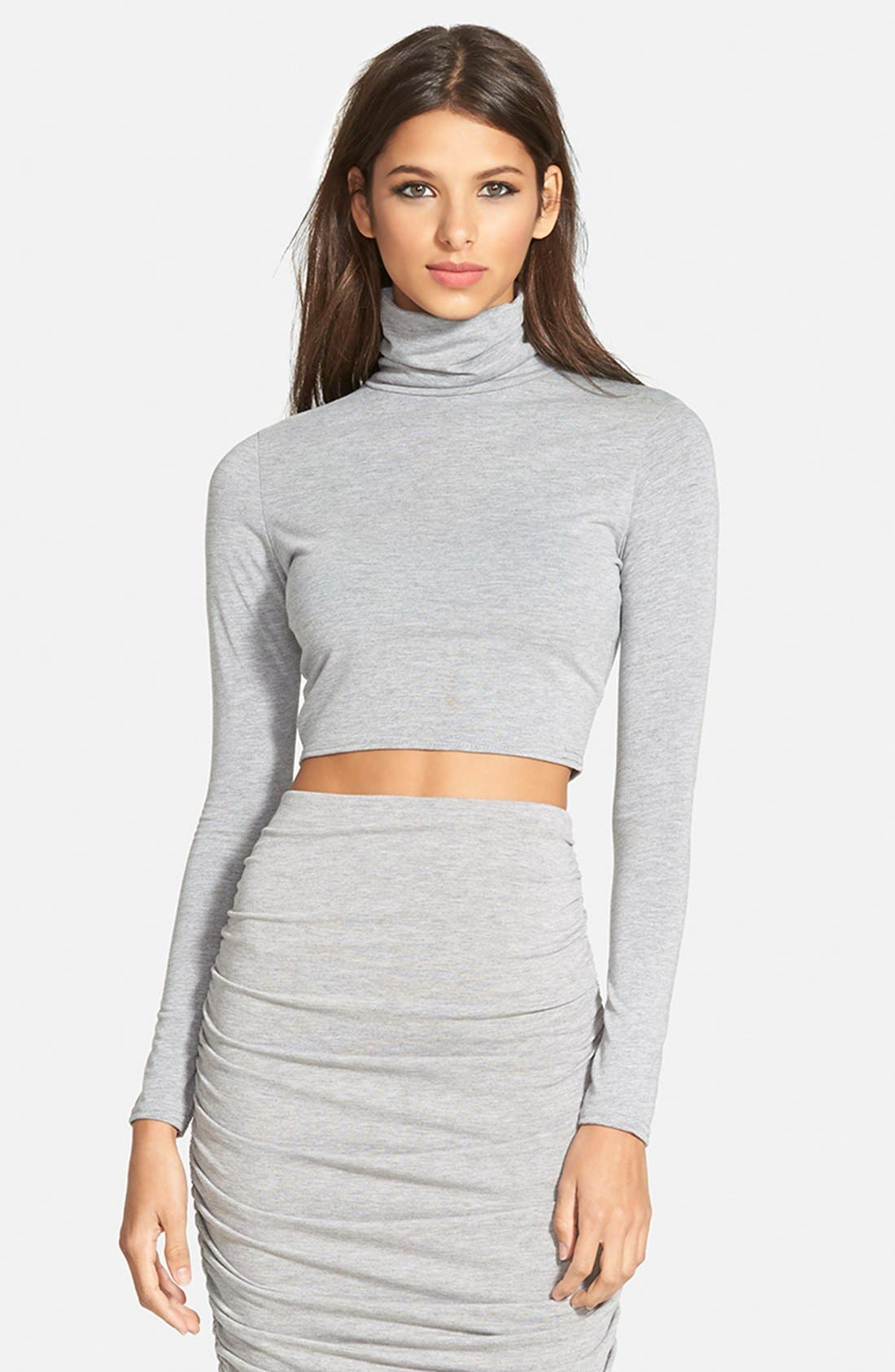 Alternate Image 1 Selected - Missguided Turtleneck Crop Top