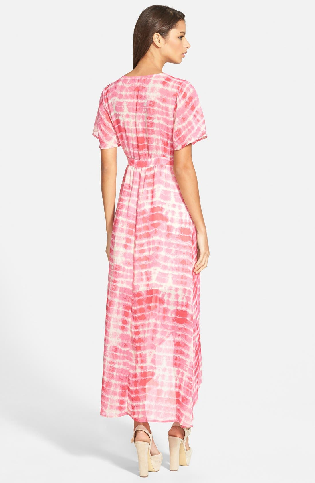 Alternate Image 2  - June & Hudson Floral Print High/Low Wrap Dress