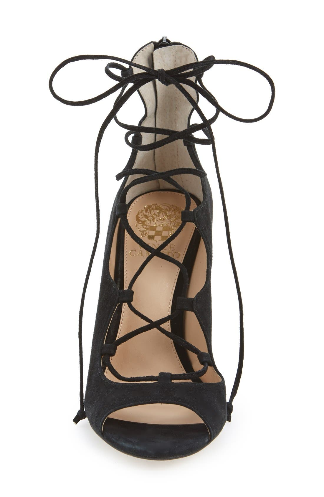 Alternate Image 3  - Vince Camuto 'Sandria' Peep Toe Ghillie Sandal (Women) (Nordstrom Exclusive)
