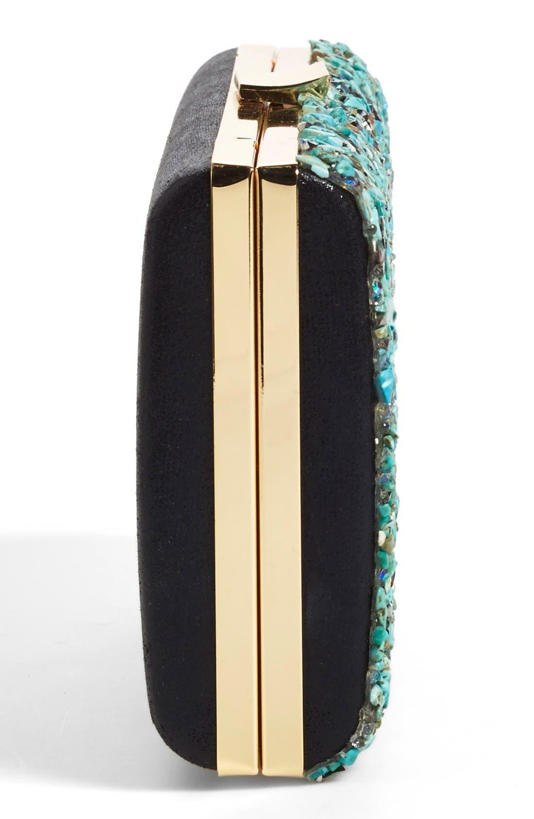 Alternate Image 5  - Natasha Couture Howlite Box Clutch