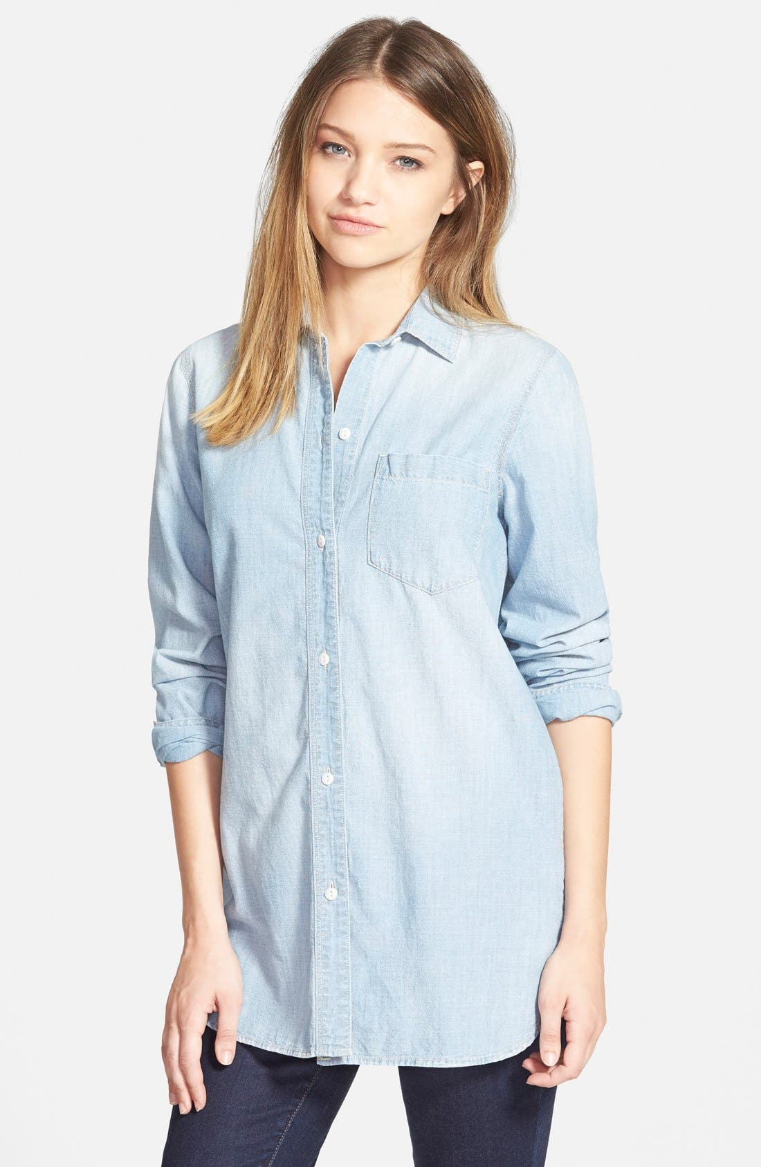 Alternate Image 1 Selected - Madewell Ex-Boyfriend Chambray Shirt