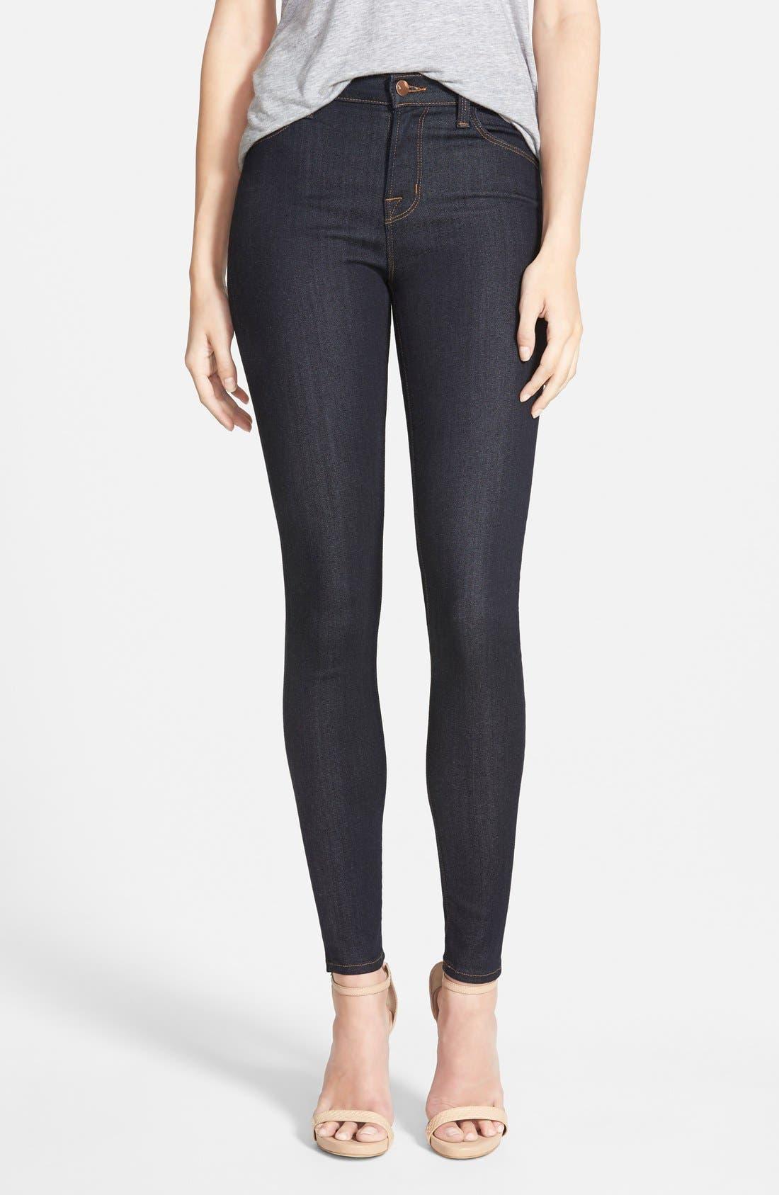 J Brand Maria High Waist Skinny Jeans (After Dark)