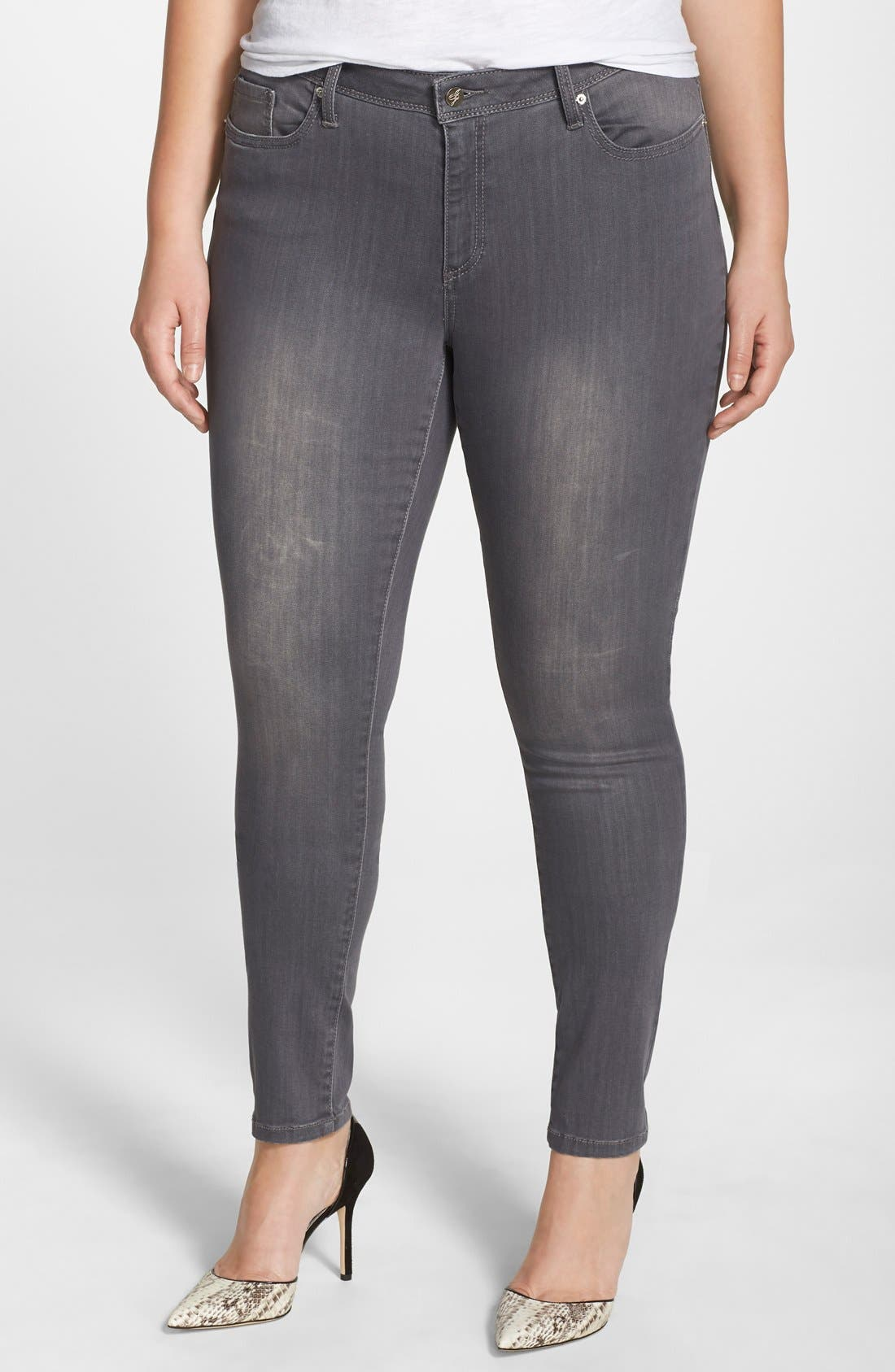 Poetic Justice Maya Ripped Stretch Skinny Jeans (Plus Size)