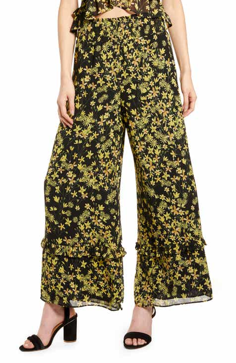 Lost + Wander Marianna Floral Print Wide Leg Pants