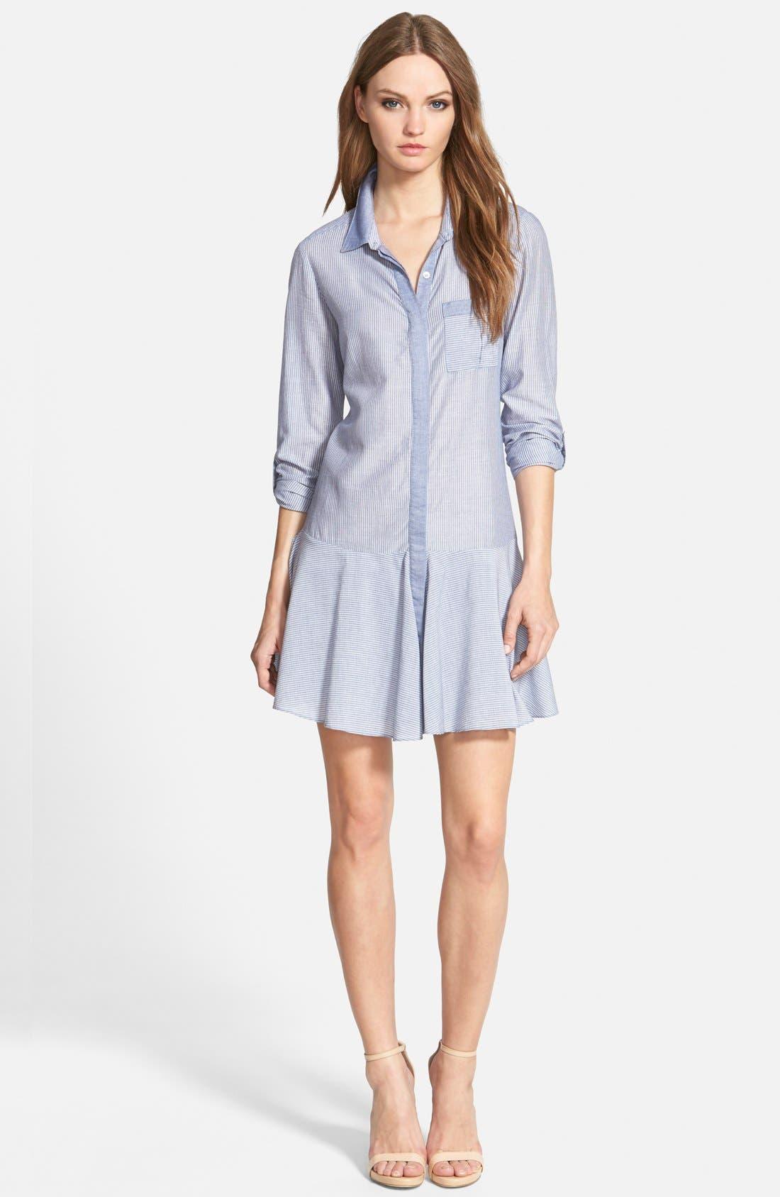 Alternate Image 1 Selected - Sam Edelman Drop Waist Shirtdress