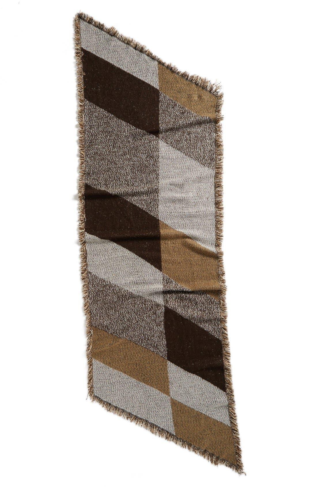Blanket Scarf,                             Alternate thumbnail 2, color,                             Brown