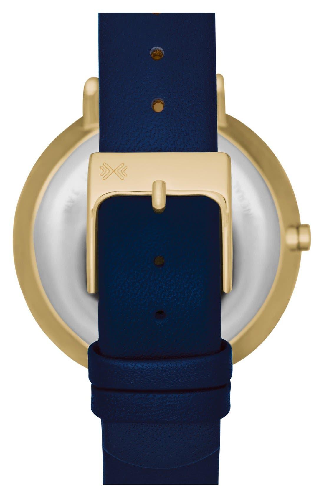 Alternate Image 2  - Skagen 'Ditte' Round Textured Dial Watch, 37mm (Nordstrom Exclusive)