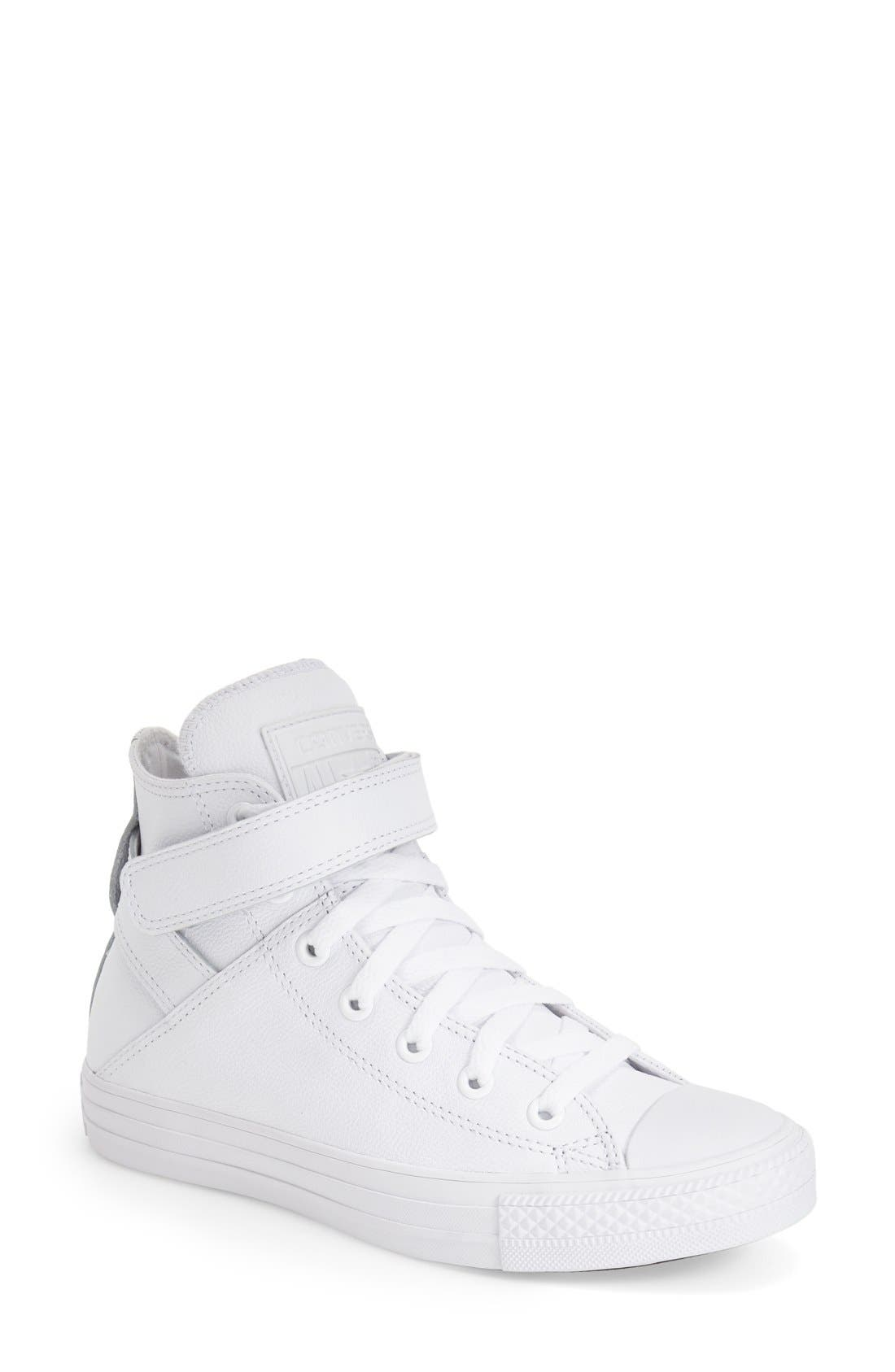 Alternate Image 1 Selected - Converse Chuck Taylor® All Star® 'Brea' Leather High Top Sneaker (Women)