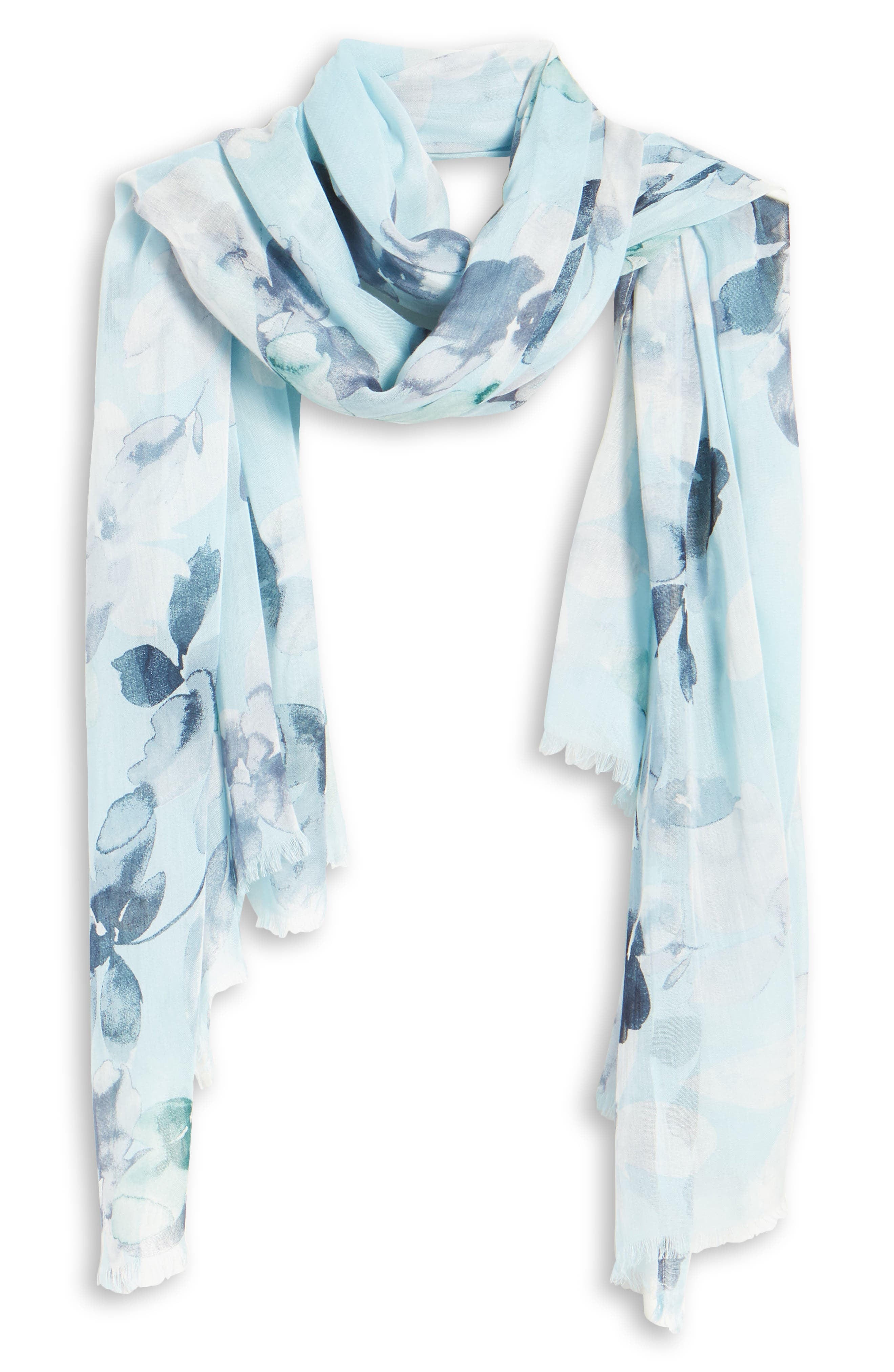 Daisy Flower Silver Metallic Scarf Glitter Shiny Blue Grey Olive Pink Coral