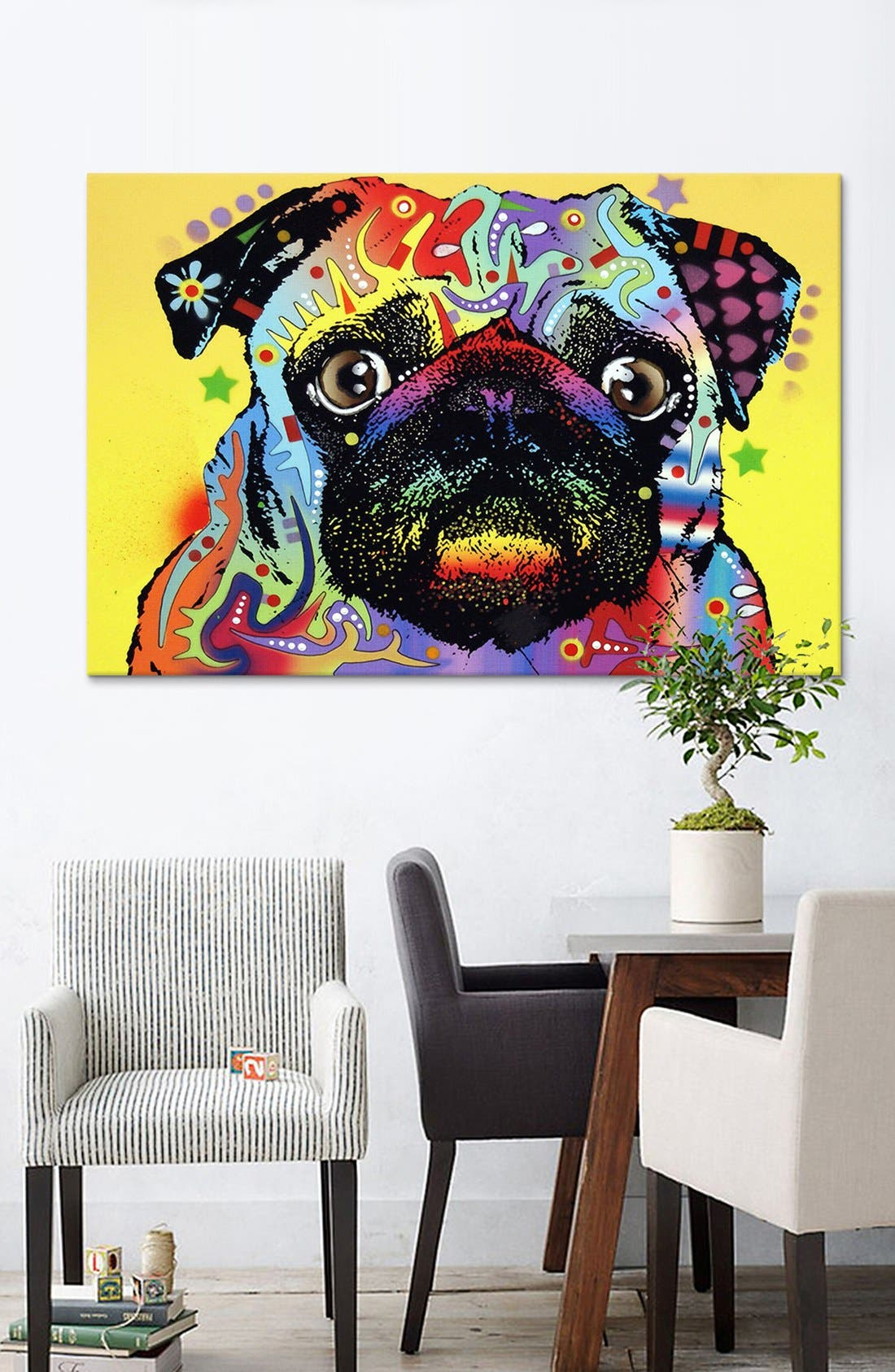 'Pug - Dean Russo' Giclée Print Canvas Art,                             Alternate thumbnail 2, color,                             Yellow