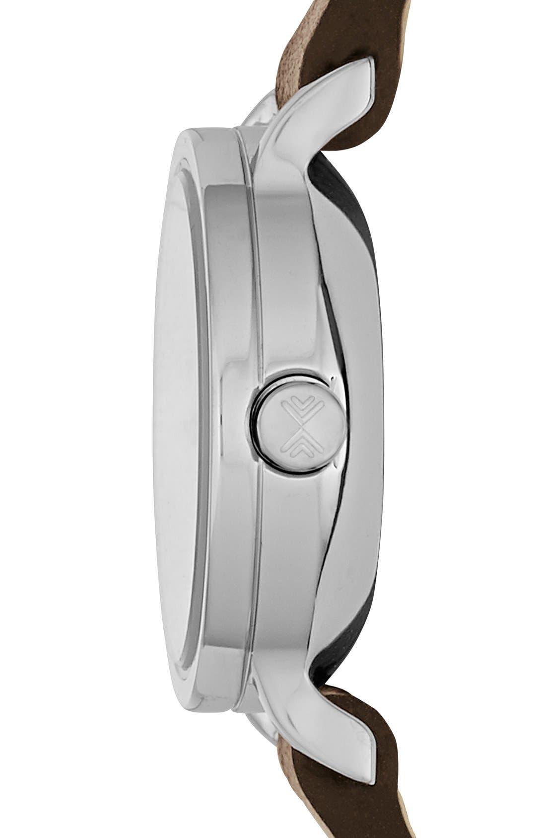Alternate Image 2  - Skagen 'Hagen' Leather Strap Watch, 20mm