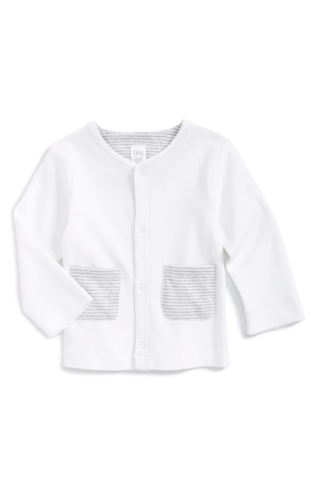 NORDSTROM BABY Patch Pocket Cotton Cardigan