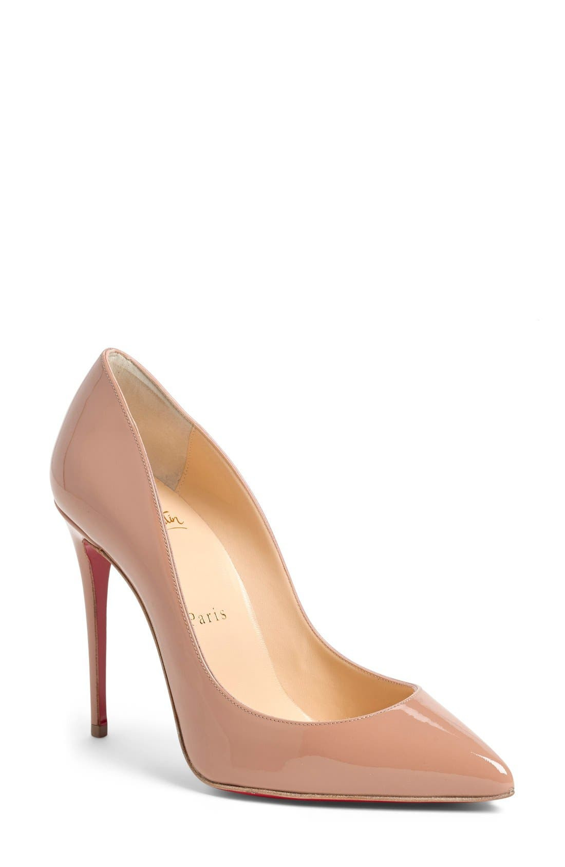 Nude pointed toe pumps Nude Photos 1