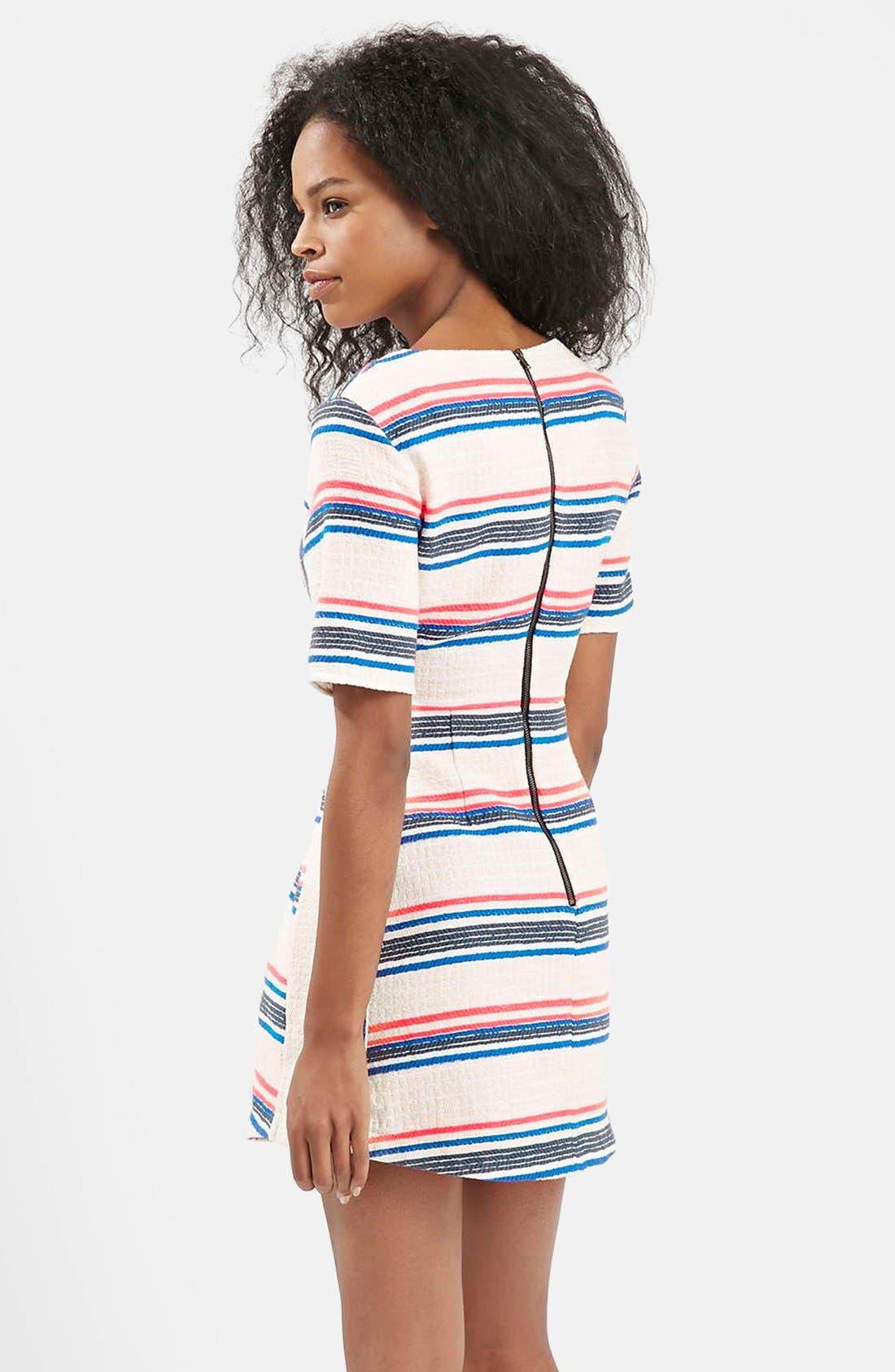 Alternate Image 2  - Topshop Stripe Jacquard A-Line Dress (Regular & Petite)