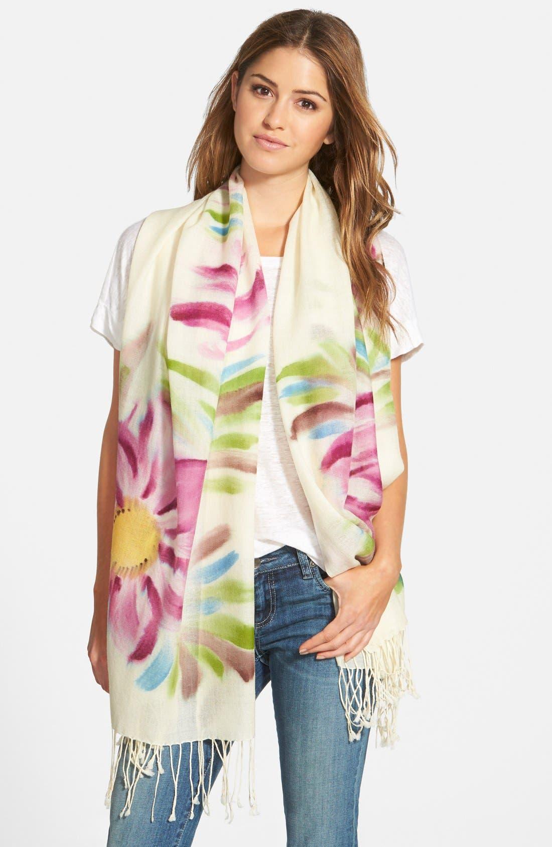 LA FIORENTINA Floral Wool Scarf