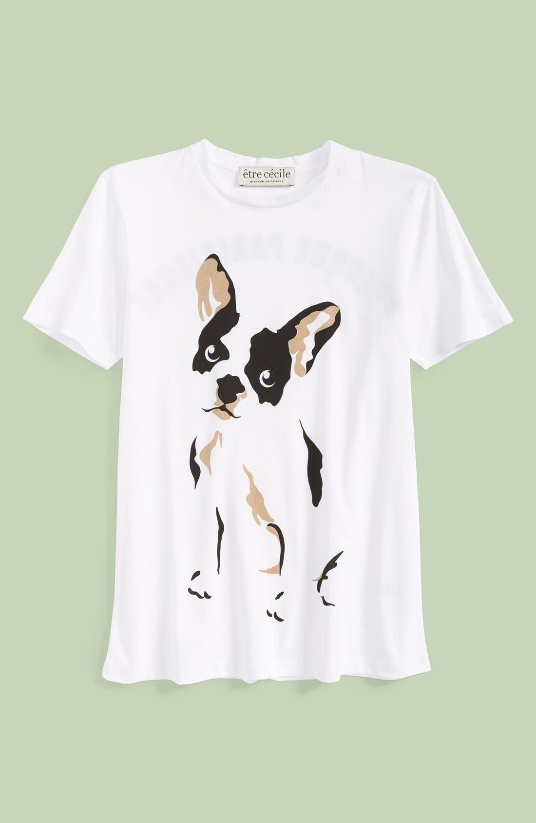 Alternate Image 1 Selected - être cécile 'Comic Dog' Graphic Tee (Women)