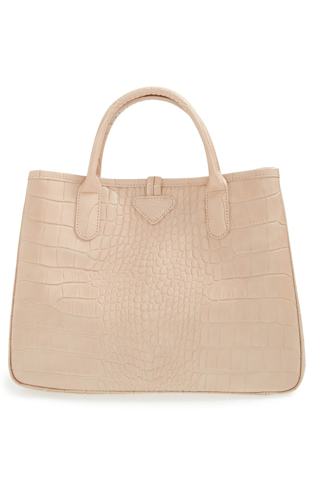 Alternate Image 3  - Longchamp 'Small Roseau Croco' Shoulder Tote