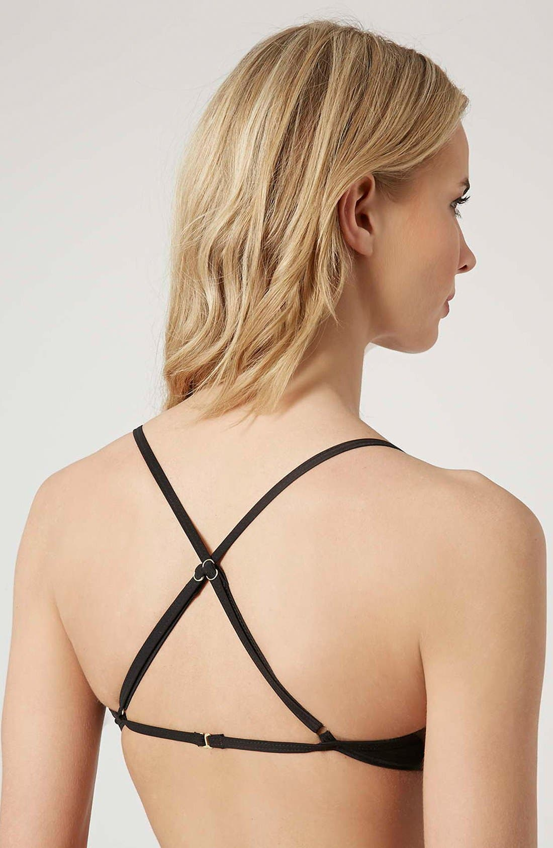 Alternate Image 2  - Topshop Strappy Mesh Triangle Bikini Top