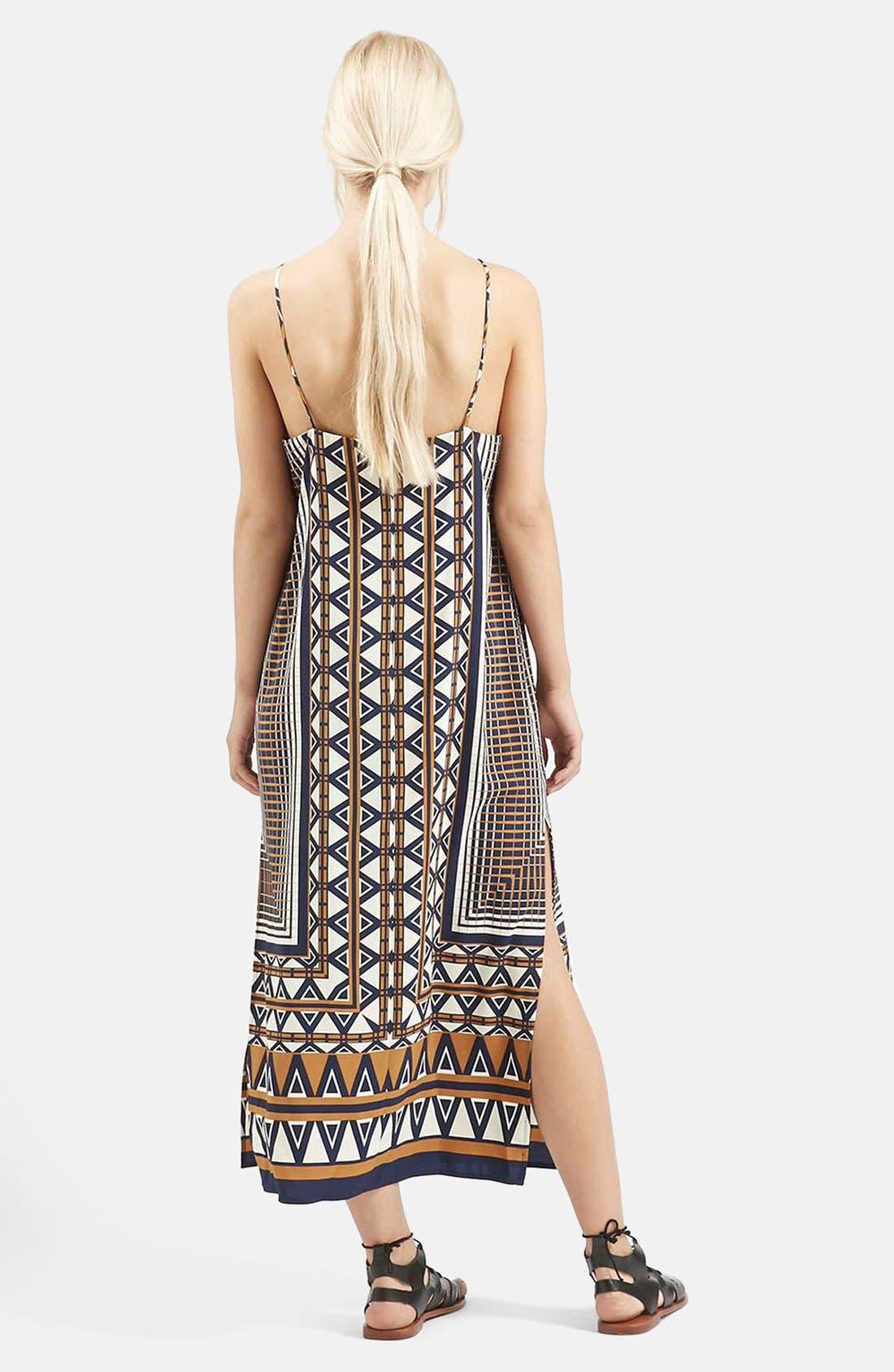 Alternate Image 2  - Topshop Stripe Print Midi Dress