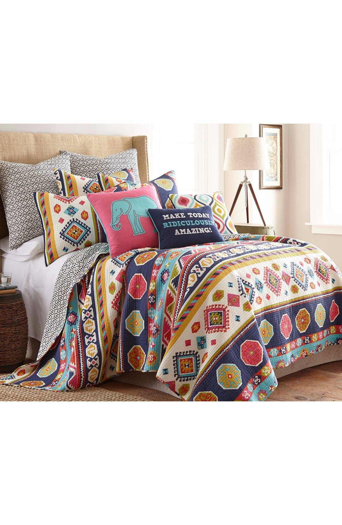 Alternate Image 1 Selected - Levtex 'Bright Swazi' Reversible Quilt