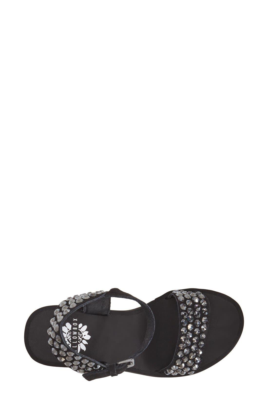 Alternate Image 3  - Yellowbox 'Arden' Crystal Embellished Wedge Sandal (Women)