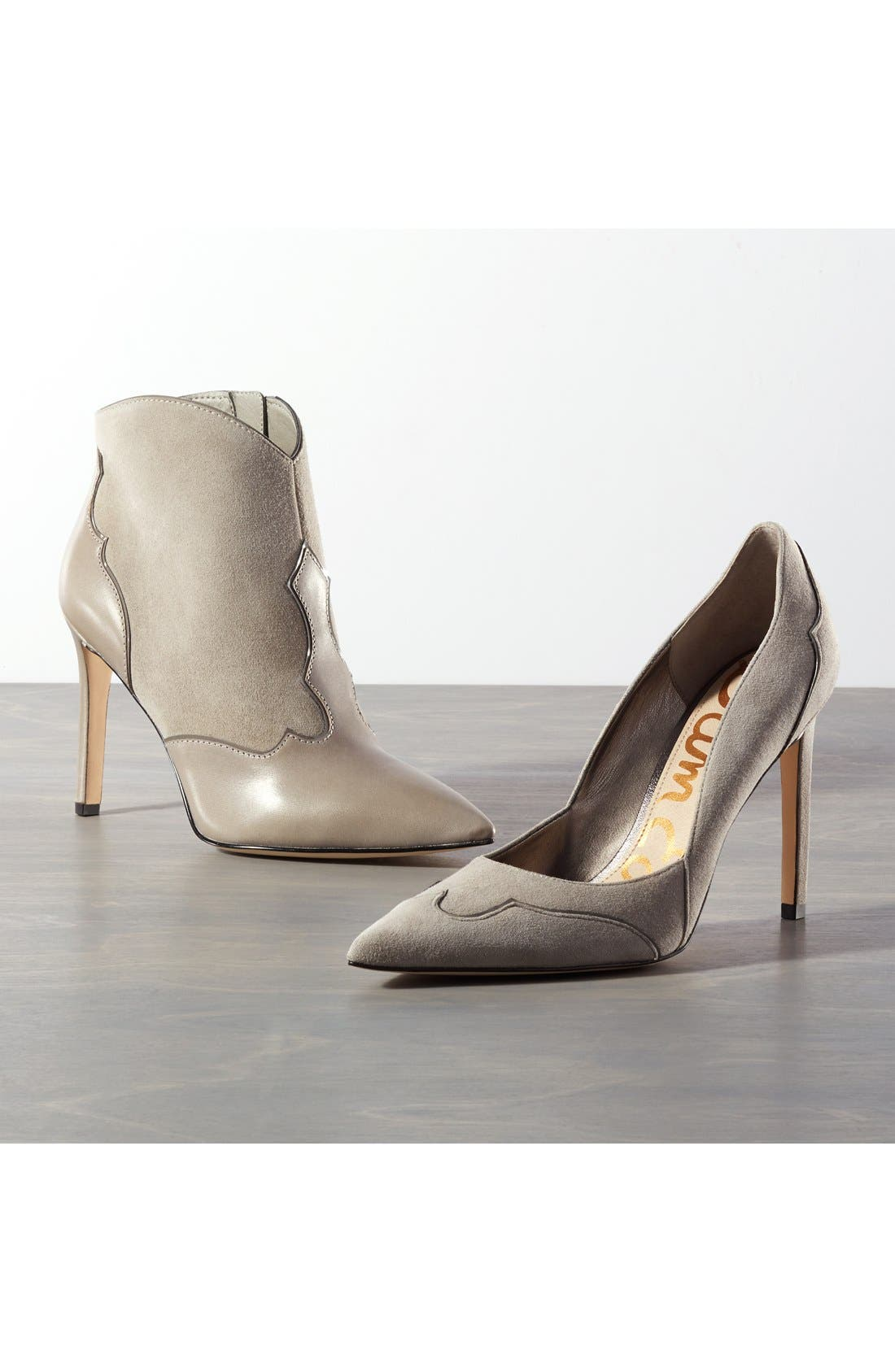 'Dixie' Suede Pointy Toe Pump,                             Alternate thumbnail 5, color,