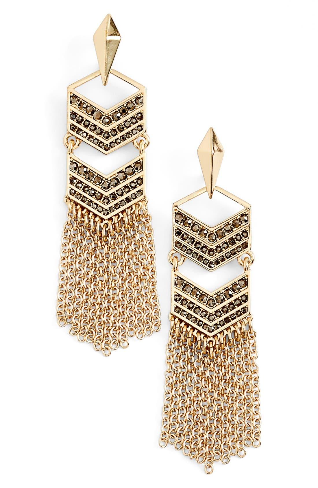 Alternate Image 1 Selected - Rebecca Minkoff Tassel Drop Earrings