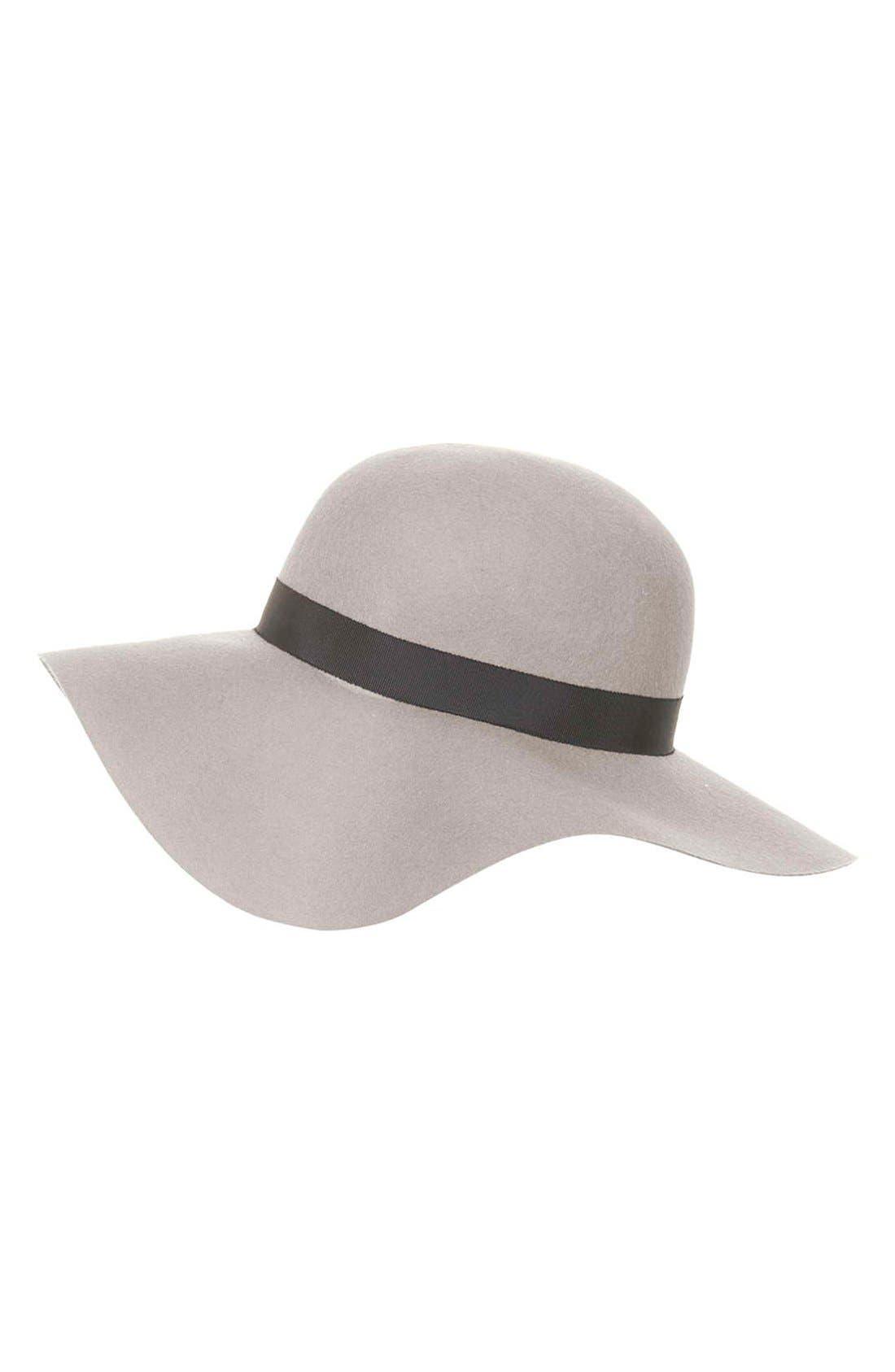 Floppy Wool Felt Hat,                             Alternate thumbnail 3, color,                             Grey