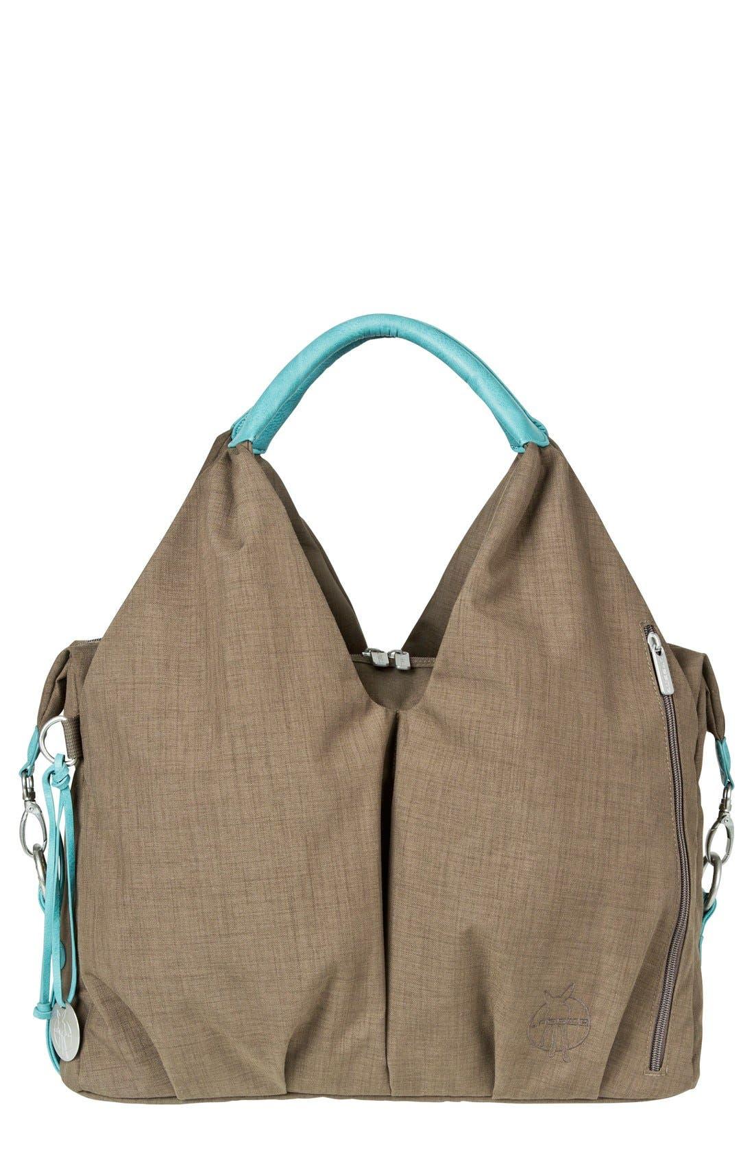 'Green Label - Neckline' Diaper Bag,                         Main,                         color, Teal/ Brown